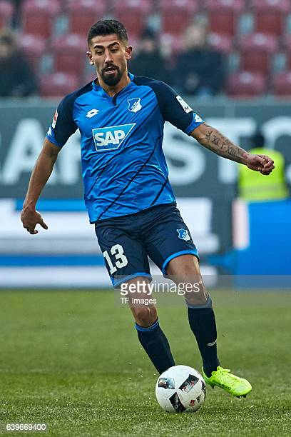 Kerem Demirbay of 1899 Hoffenheim in action during the Bundesliga match between FC Augsburg and TSG 1899 Hoffenheim at WWK Arena on January 21 2017...
