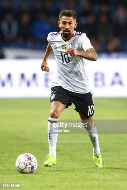 Kerem Demirbay of Germany controls the ball during the international friendly match between Denmark v Germany on June 6 2017 in Brondby Denmark