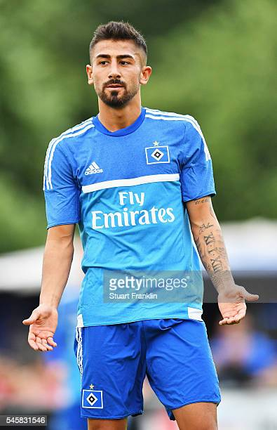 Kerem Demirbay of Hamburg in action during a pre season friendly match between ETSV Weiche Flensburg and Hamburger SV on July 08 2016 in Flensburg...