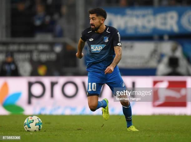 Kerem Demirbay of Hoffenheim controls the ball during the Bundesliga match between TSG 1899 Hoffenheim and Eintracht Frankfurt at Wirsol...