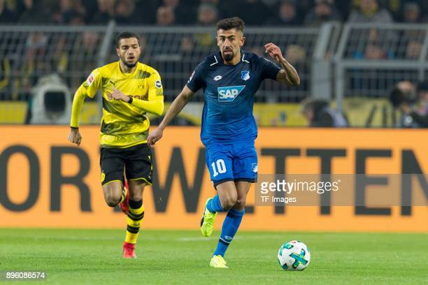 Kerem Demirbay of Hoffenheim controls the ball during the Bundesliga match between Borussia Dortmund and TSG 1899 Hoffenheim at Signal Iduna Park on...