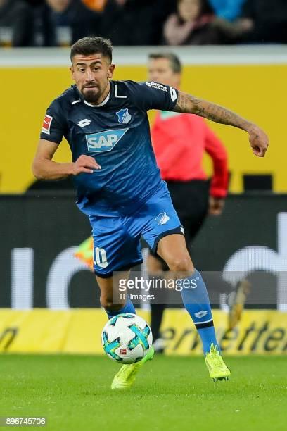 Kerem Demirbay of Hoffenheim controls the ball during the Bundesliga match between TSG 1899 Hoffenheim and VfB Stuttgart at Wirsol RheinNeckarArena...