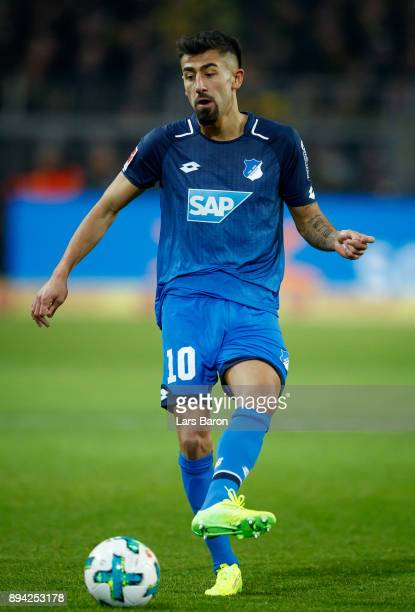 Kerem Demirbay of Hoffenheim runs woth the ball during the Bundesliga match between Borussia Dortmund and TSG 1899 Hoffenheim at Signal Iduna Park on...