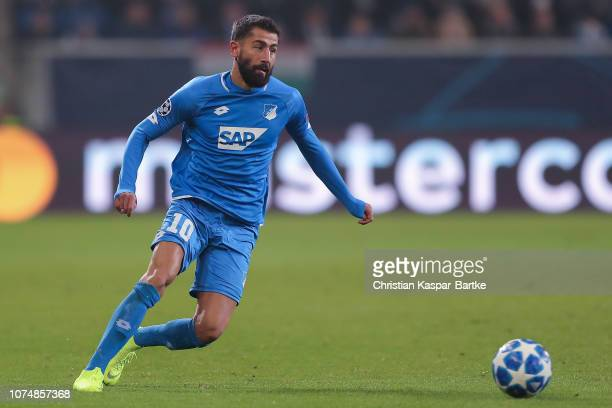 Kerem Demirbay of TSG 1899 Hoffenheim in action during the Group F match of the UEFA Champions League between TSG 1899 Hoffenheim and FC Shakhtar...