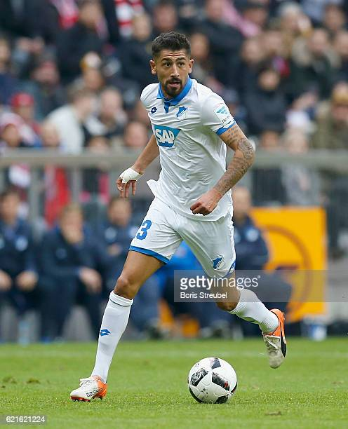 Kerem Demirbay of TSG Hoffenheim runs with the ball during the Bundesliga match between Bayern Muenchen and TSG 1899 Hoffenheim at Allianz Arena on...
