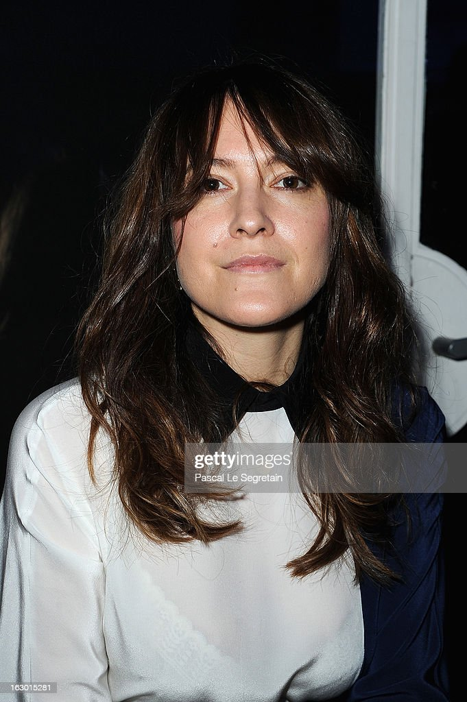 Keren Ann attends Maxime Simoens Fall/Winter 2013 Ready-to-Wear show as part of Paris Fashion Week on March 3, 2013 in Paris, France.