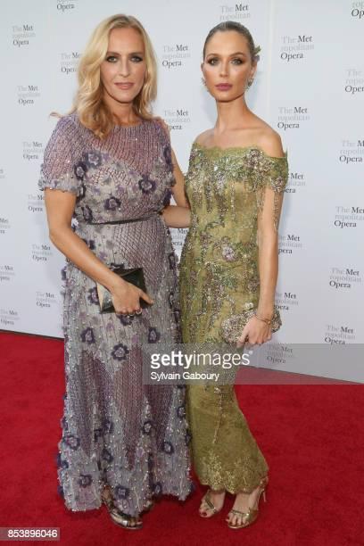 Keren Craig and Georgina Chapman attend Metropolitan Opera Opening Night Gala at Lincoln Center on September 25 2017 in New York City