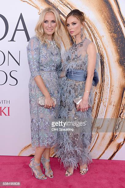 Keren Craig and Georgina Chapman attend the 2016 CFDA Fashion Awards at the Hammerstein Ballroom on June 6 2016 in New York City