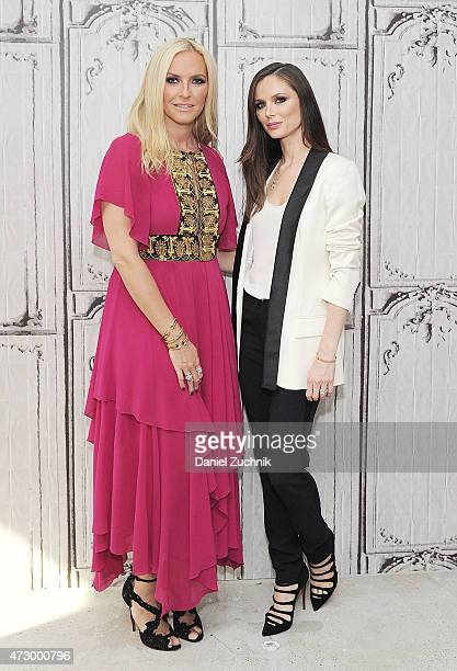 Keren Craig and Georgina Chapman attend the the AOL BUILD Speakers Series with Marchesa cofounders Georgina Chapman and Keren Craig at AOL Studios In...