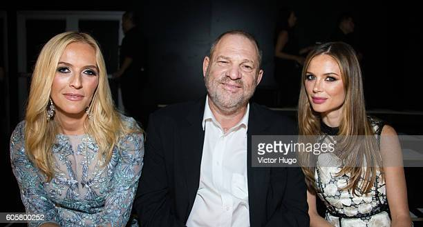 Keren Craig Harvey Weinstein and Georgia Chapman attend the Marchesa show during September 2016 New York Fashion Week at The Dock Skylight at...