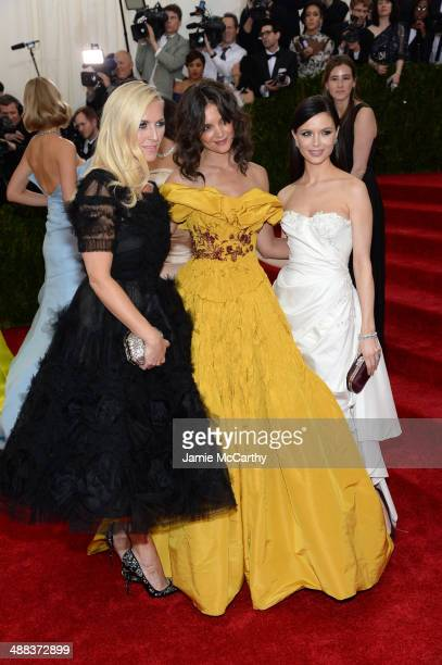 Keren Craig Katie Holmes and Georgina Chapman attend the Charles James Beyond Fashion Costume Institute Gala at the Metropolitan Museum of Art on May...