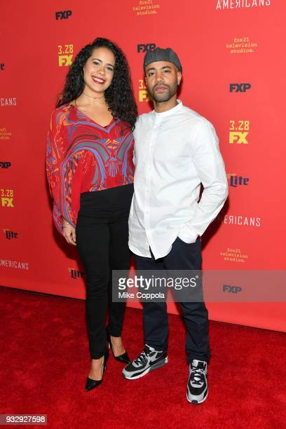 Keren Lugo and Sean Carvajal attend 'The Americans' Season 6 Premiere at Alice Tully Hall Lincoln Center on March 16 2018 in New York City