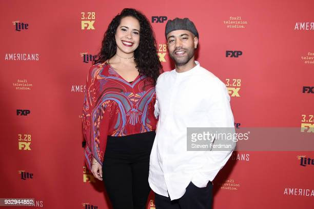 Keren Lugo and Sean Carvajal attend the 'The Americans' Season 6 Premiere at Alice Tully Hall Lincoln Center on March 16 2018 in New York City