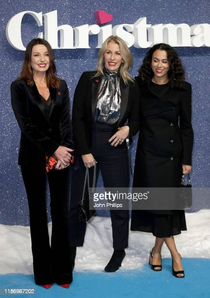 Keren Woodward and Sara Dallin from Bananarama and guest attend the Last Christmas UK Premiere at the BFI Southbank on November 11 2019 in London...