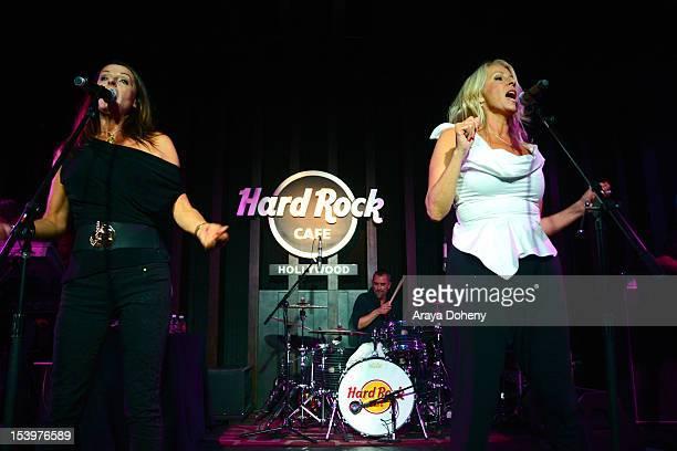 Keren Woodward and Sara Dallin of Bananarama perform at the Hard Rock Cafe's 13th Annual PINKTOBER breast cancer awareness campaign featuring...