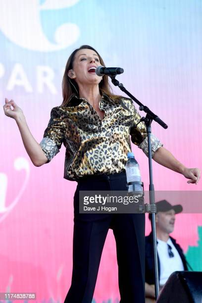 Keren Woodward of Bananarama performs on stage during BBC2 Radio Live 2019 at Hyde Park on September 15 2019 in London England