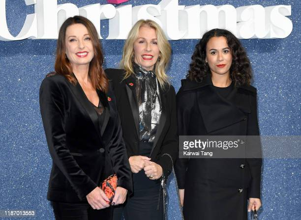 Keren Woodward Sara Dallin and Alice DallinWalker attend the Last Christmas UK Premiere at BFI Southbank on November 11 2019 in London England