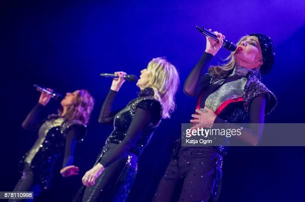 Keren Woodward Sara Dallin and Siobhan Fahey of Bananarama perform at Arena Birmingham on November 23 2017 in Birmingham England