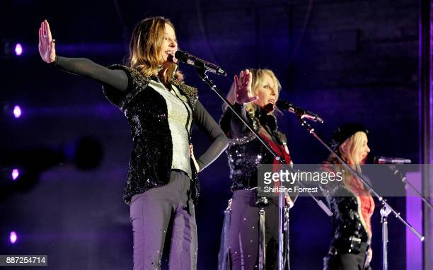 Keren Woodward Sara Dallin and Siobhan Fahey of Bananarama perform live on stage at O2 Apollo Manchester on December 6 2017 in Manchester England