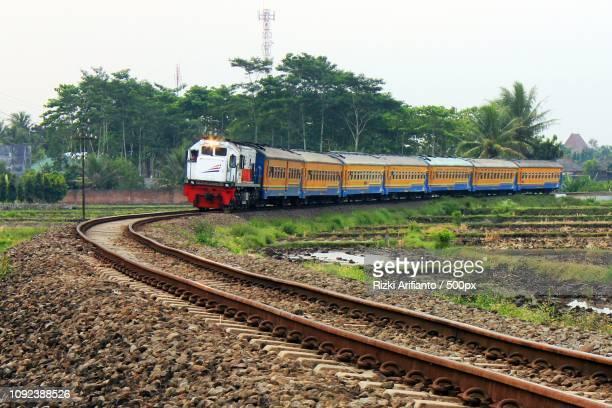 Kereta Api Penataran di daerah Jatirejoyoso Kepanjen