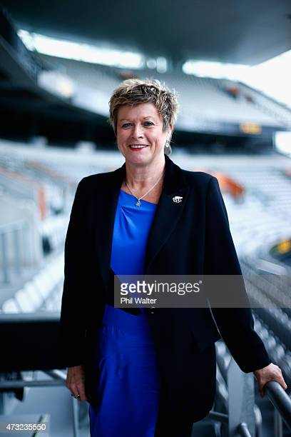 Kereyn Smith poses for a portrait during the New Zealand Olympic Committee Annual General Meeting at Eden Park on May 14 2015 in Auckland New Zealand