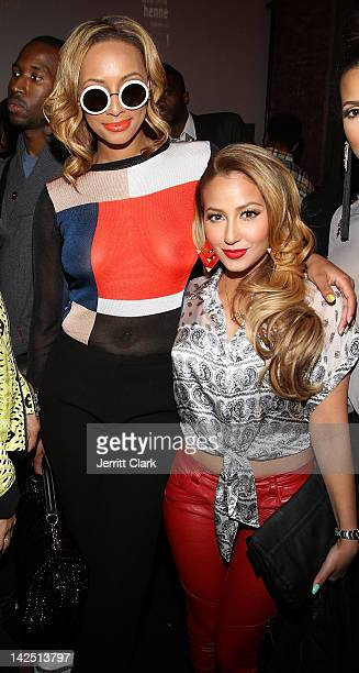 Keri Hilson and Adrienne Bailon attend the Hennessy 'Wild Rabbit' campaign launch event at the Highline Studios on April 5 2012 in New York City