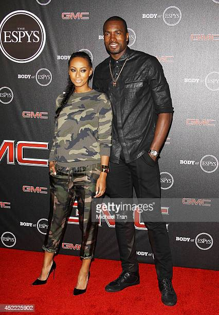 Keri Hilson and basketball player Serge Ibaka arrive at the BODY at ESPYS PreParty held at Lure on July 15 2014 in Hollywood California