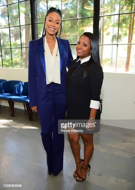 Keri Hilson and Keshia Knight Pulliam attend a celebration of women for Abrams at The Gathering Spot on September 22 2018 in Atlanta Georgia