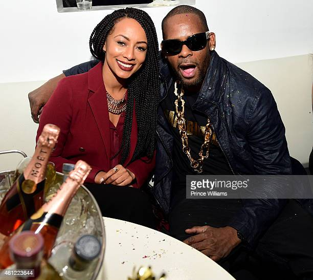 Keri Hilson and R Kelly attend R Kelly's Birthday celebration at Time Restaurant on January 8 2015 in Atlanta Georgia