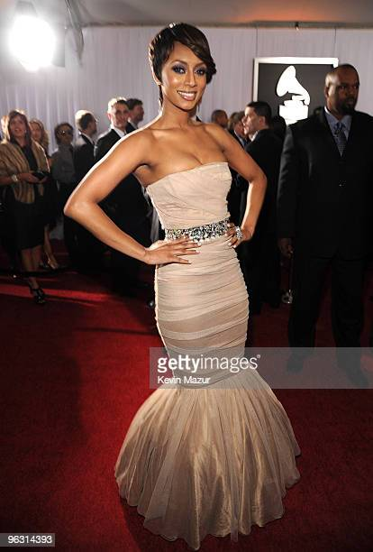 Keri Hilson arrives at the 52nd Annual GRAMMY Awards held at Staples Center on January 31, 2010 in Los Angeles, California.