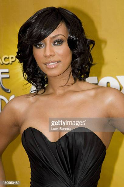 Keri Hilson arrives at The Shrine Auditorium on February 26 2010 in Los Angeles California
