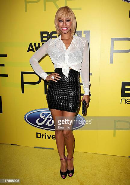 Keri Hilson attends BET networks chairman Debra L Lee hosts 5th annual preBET awards celebration dinner at Book Bindery on June 25 2011 in Culver...