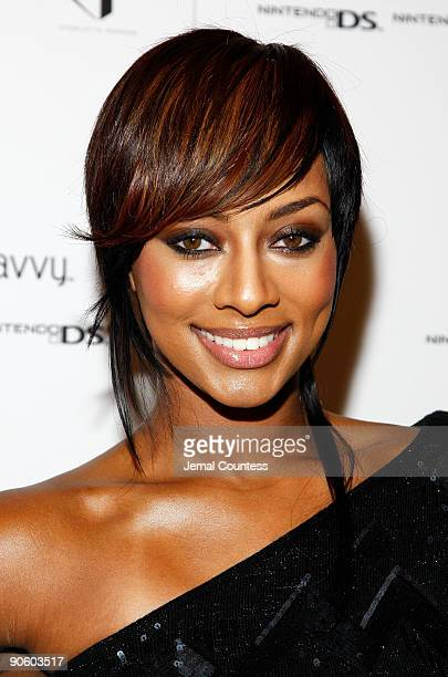 Keri Hilson attends Charlotte Ronson Spring 2010 Fashion Show at the Promanade at Bryant Park on September 11 2009 in New York New York