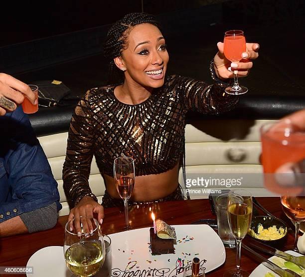 Keri Hilson attends Keri Hilson's Birthday dinner at STK on December 8 2014 in Atlanta Georgia