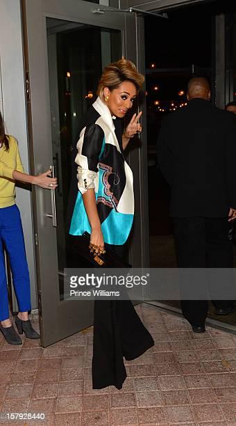 Keri Hilson attends Keri Hilson's birthday dinner at STK resturant on December 6 2012 in Atlanta Georgia