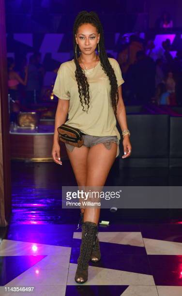 Keri Hilson attends R&B Wednesdays at Gold Room on April 17, 2019 in Atlanta, Georgia.