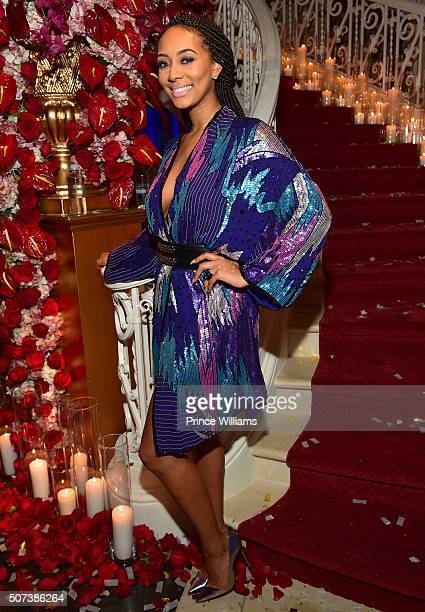 Keri Hilson attends Rick Ross Private affair at Rick Ross Mansion on January 28, 2016 in Atlanta, Georgia.