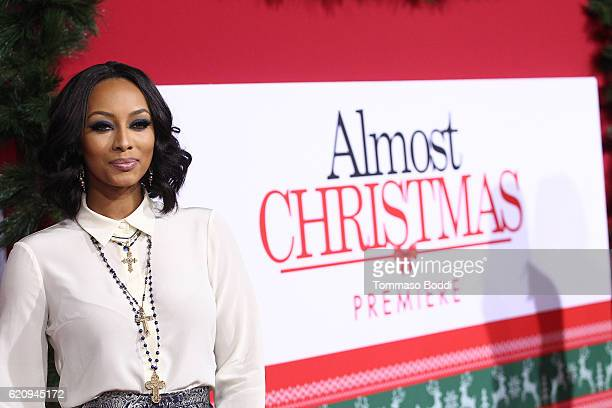 """Keri Hilson attends the premiere of Universal's """"Almost Christmas"""" at Regency Village Theatre on November 3, 2016 in Westwood, California."""