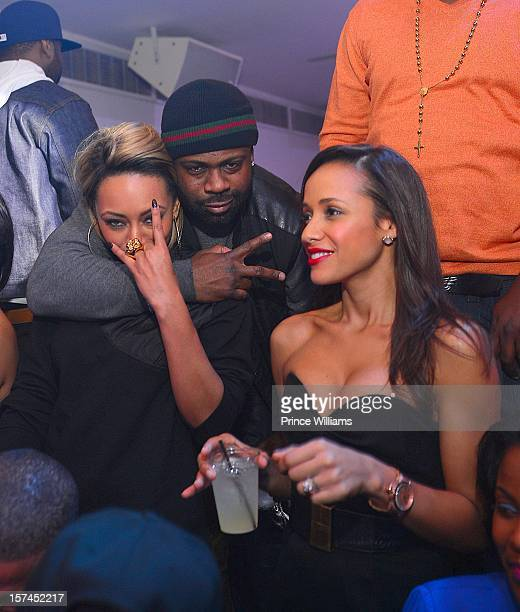 Keri Hilson Breyon Prescott and Dania Ramirez attend a party hosted by Kevin Hart at Compound on December 1 2012 in Atlanta Georgia