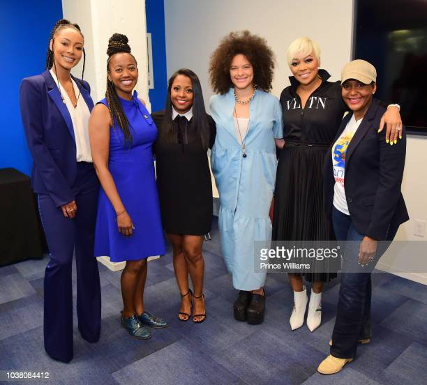 Keri Hilson Erika Alexander Keisha Knight Pulliam Mali Hunter Monica and Keisha Lance Bottoms attend a celebration of women for Abrams at The...