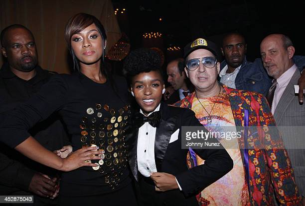 Keri Hilson Janelle Monae and Noah G Pop attend the official BMI Urban Awards after party at M2 Ultra Lounge on September 10 2009 in New York City