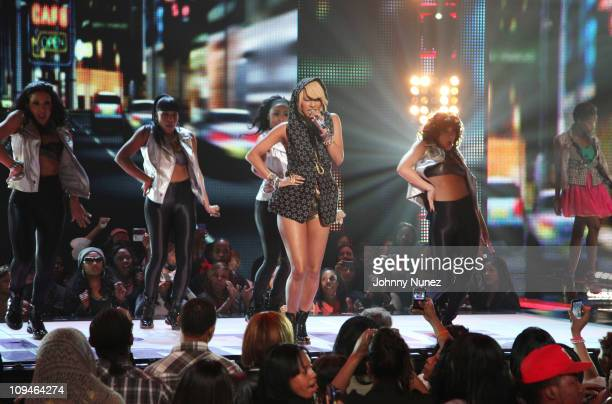 Keri Hilson performs at BET's Rip the Runway 2011 at The Manhattan Center on February 26, 2011 in New York City.
