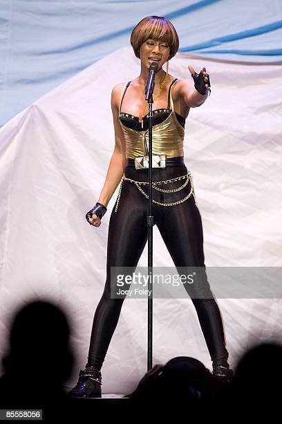 Keri Hilson performs at the Conseco Fieldhouse on March 21 2009 in Indianapolis