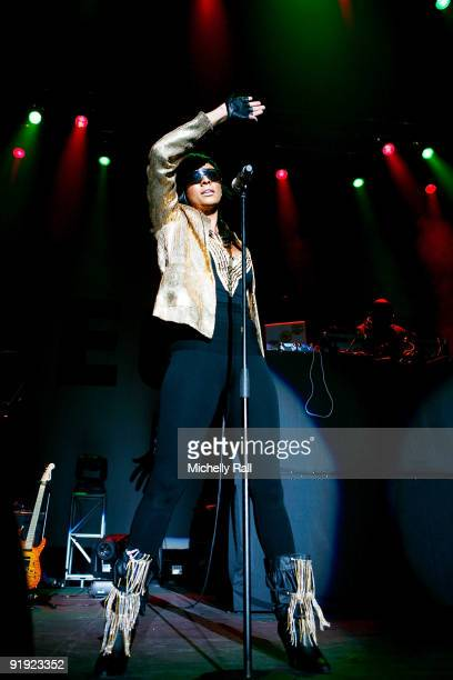 Keri Hilson performs at the Grand West Casino on October 15 2009 in Cape Town South Africa