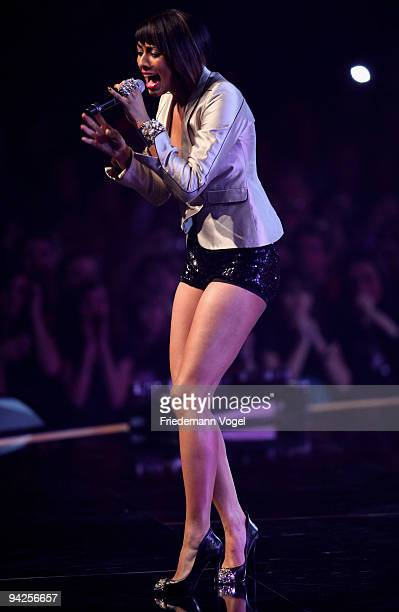 Keri Hilson performs during the TV Show 'Popstars You I' final at the Koenigspilsener Arena on December 10 2009 in Oberhausen Germany