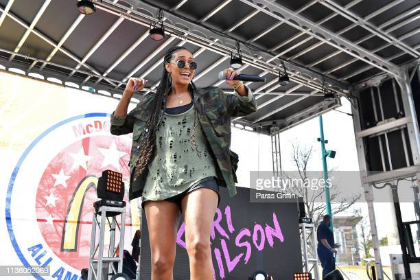 Keri Hilson performs onstage during the McDonald's All American Games Fan Fest at Centennial Olympic Park on March 24 2019 in Atlanta Georgia