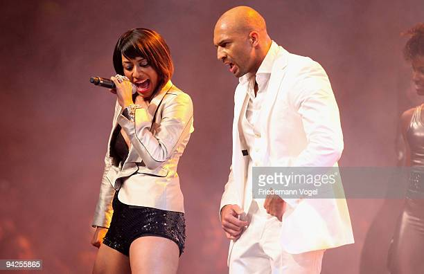 Keri Hilson performs with Detlef D Soost during the TV Show 'Popstars You I' final at the Koenigspilsener Arena on December 10 2009 in Oberhausen...