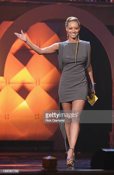 Keri Hilson presents during the 2011 Soul Train Awards at The Fox Theatre on November 17 2011 in Atlanta Georgia