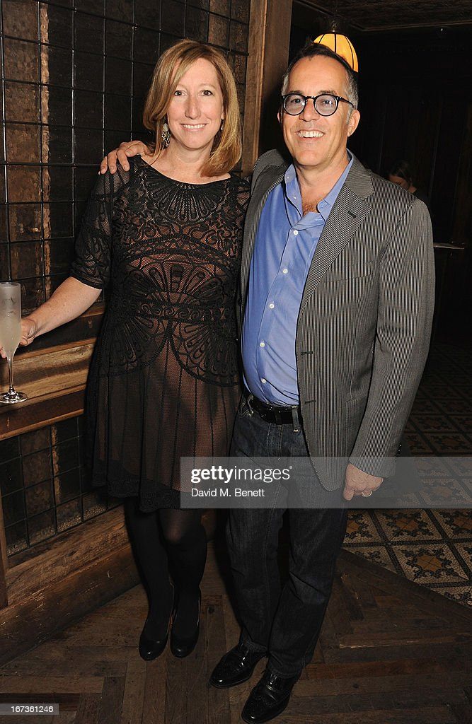 Keri Putnam and Director of the Sundance Film Festival John Cooper attend Grey Goose hosted Sundance London Filmmaker Dinner at Little House on April 24, 2013 in London, England.