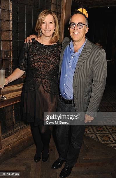 Keri Putnam and Director of the Sundance Film Festival John Cooper attend Grey Goose hosted Sundance London Filmmaker Dinner at Little House on April...